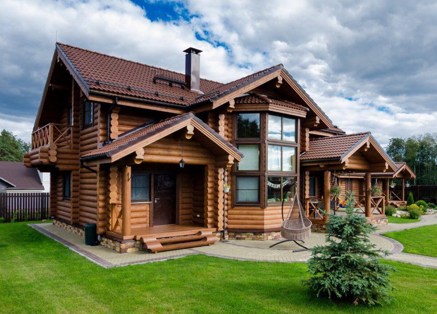 деревянный котедж