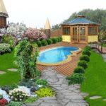 Ландшафтный дизайн на участке загородного дома