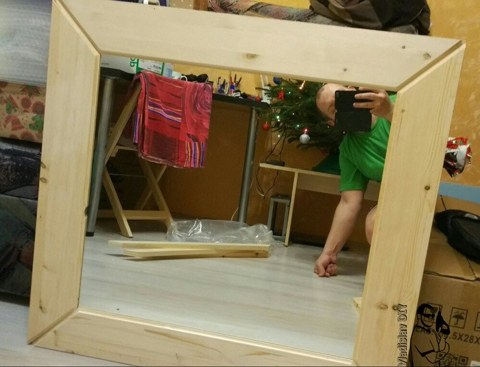 деревянная рама для зеркала