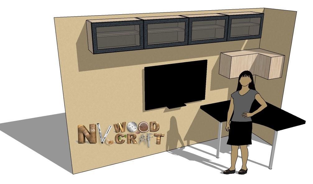 SketchUp макет подвесных шкафов