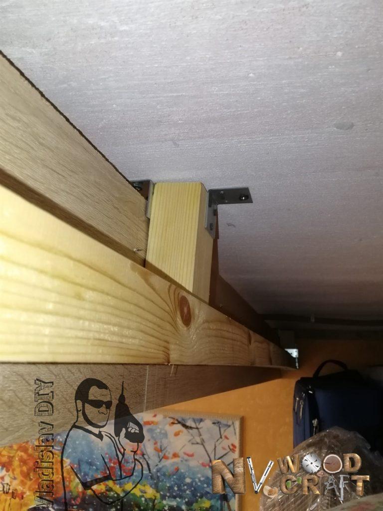 Фальш-панель и брус для монтажа верхней направляющей 2