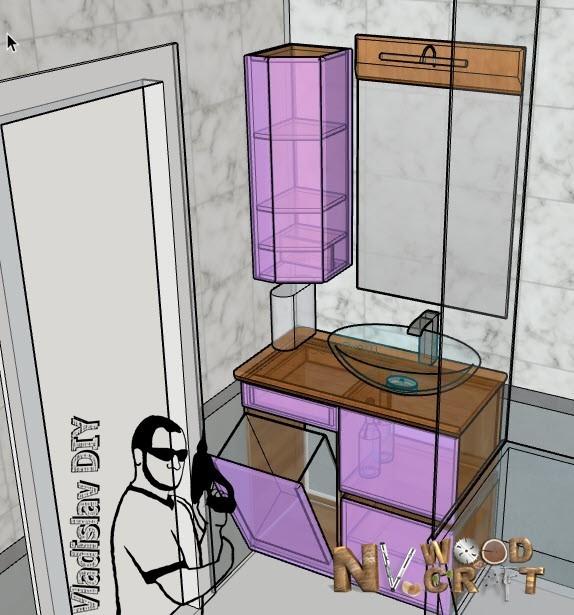 Схема гарнитура в ванную