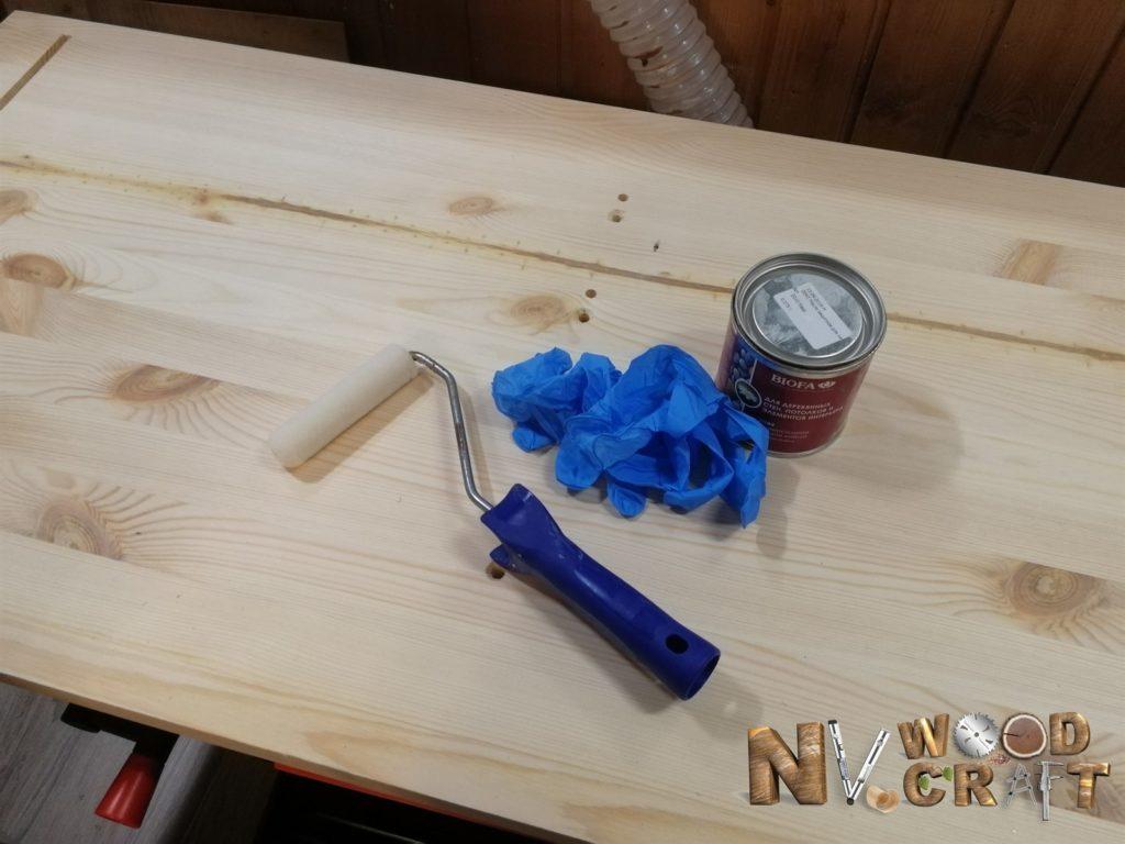 Инструменты для покраски комода в спальню