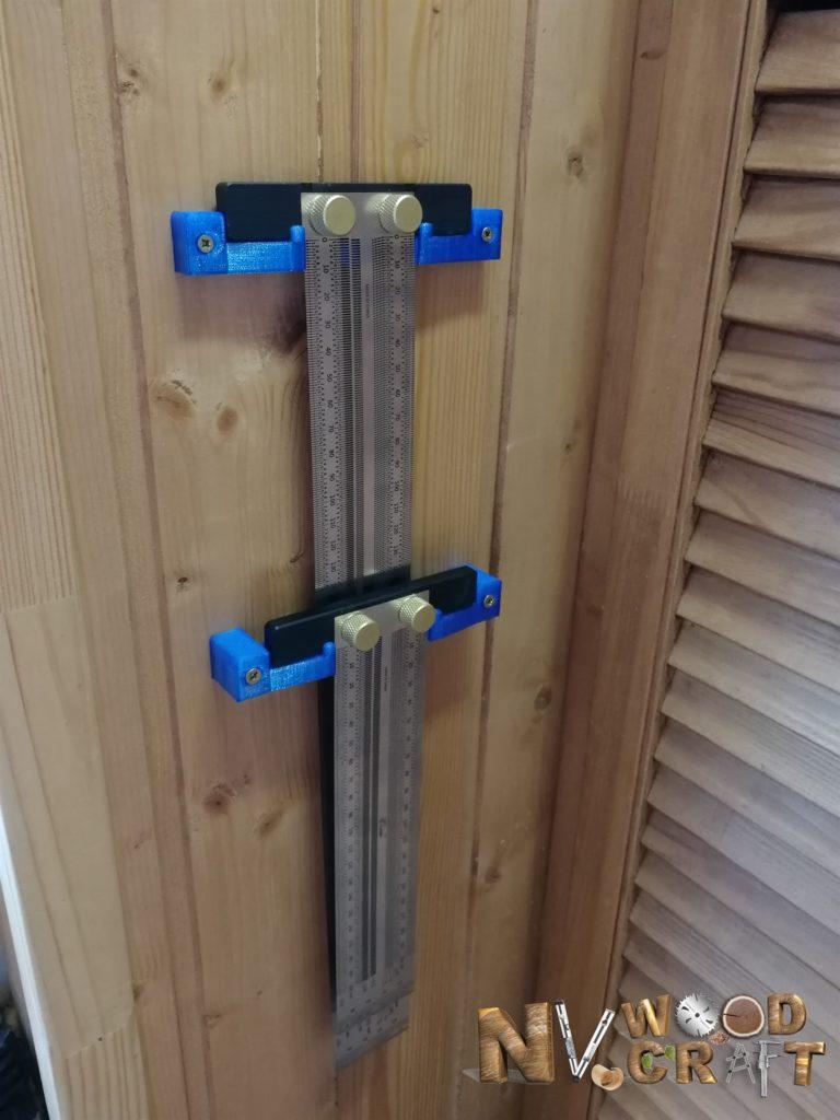 Крепления для двух разметочных линеек на стену