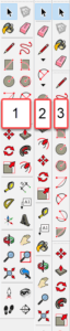 SketchUp панель инструментов