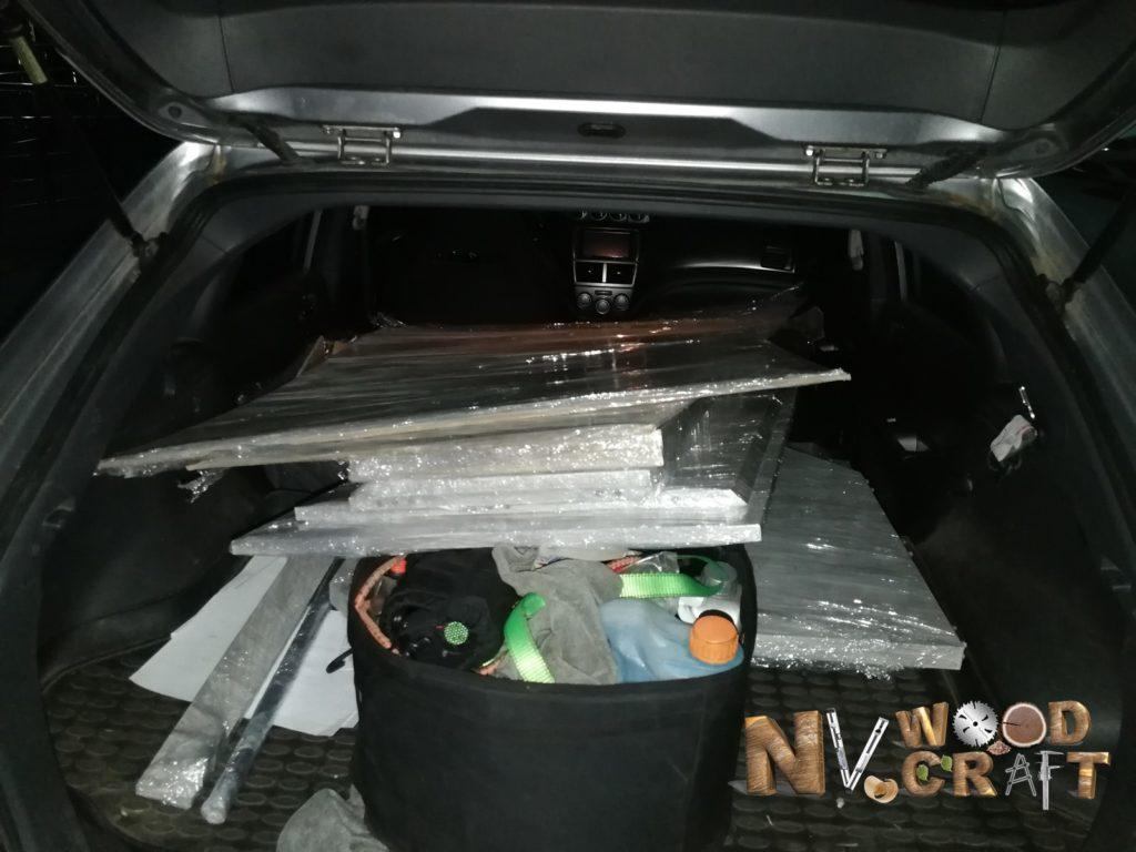 Доставка шкафа на автомобиле