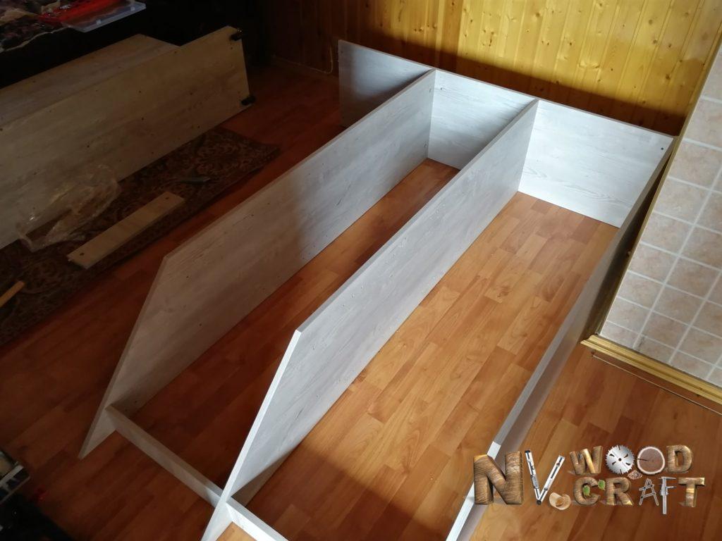Сборка шкафа для мансарды со скошенной крышей