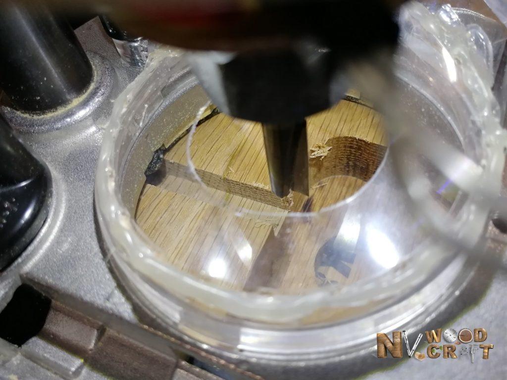 Работа с фрезером RT0700CX2 с подсветкой